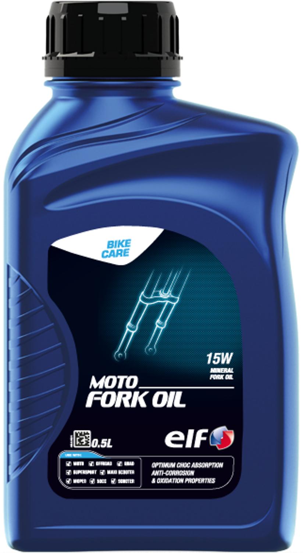 送料0円 elf エルフ バイク用 フォークオイル MOTO NEW売り切れる前に☆ FORK 15W 0.5L OIL モト 213964 高精製鉱物油