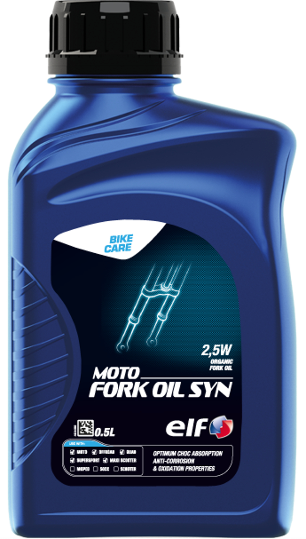 elf エルフ 超激安 バイク用 フォークオイル MOTO FORK OIL 激安挑戦中 SYN 0.5L シン 5W モト 全化学合成油 2 213968