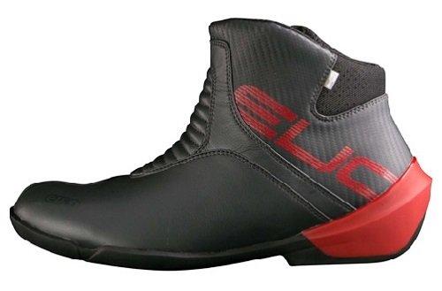 バイク スクーター ライディング ショート シューズ 靴 エルフ ELF ELF ライディングシューズ EVOLUZIONE02 ガンメタル 25.0cm