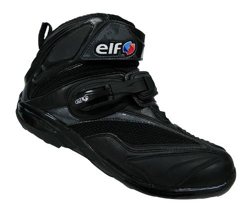 バイク スクーター ライディング ショート シューズ 靴 エルフ ELF ELF ライディングシューズ Synthese15 ブラック 26.0cm