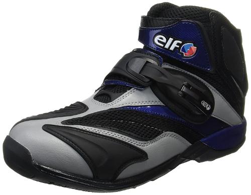バイク スクーター ライディング ショート シューズ 靴 エルフ ELF ELF ライディングシューズ Synthese15 グレー/ネイビー 27.5cm 711800