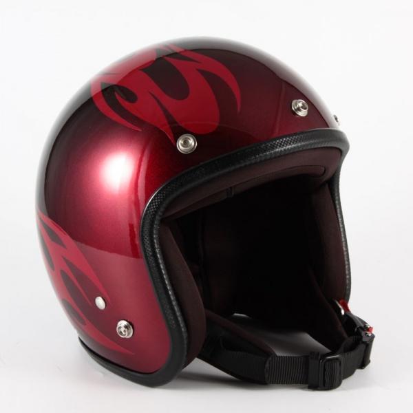 ジャムテックジャパン (72JAM) バイク用 ジェット ヘルメット JCPシリーズ BURNS バーンズ (レッド) フリーサイズ (57~60cm未満) JCP-01