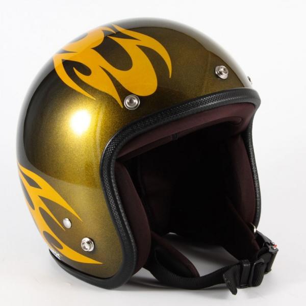 ジャムテックジャパン (72JAM) バイク用 ジェット ヘルメット JCPシリーズ BURNS バーンズ (イエロー) フリーサイズ (57~60cm未満) JCP-02