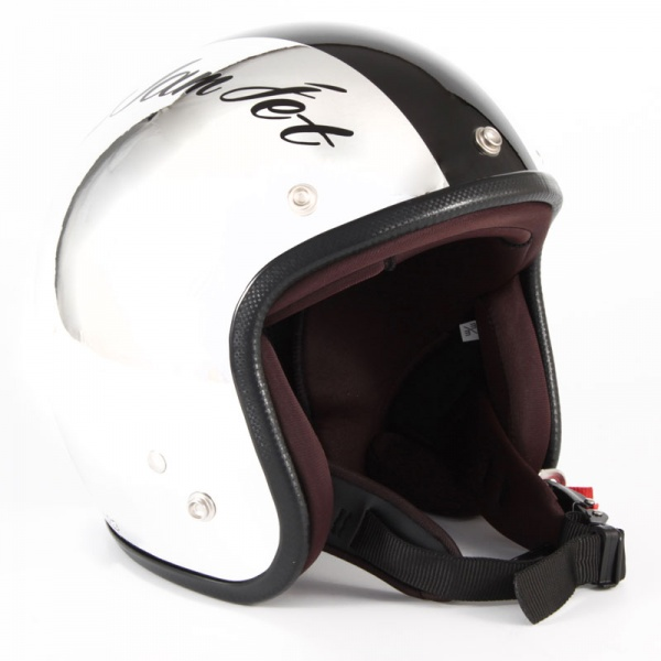ジャムテックジャパン (72JAM) バイク用 ジェット ヘルメット JCPシリーズ CHROMES クロムズ CM/BK (ブラック) フリーサイズ (57~60cm未満) JCP-06