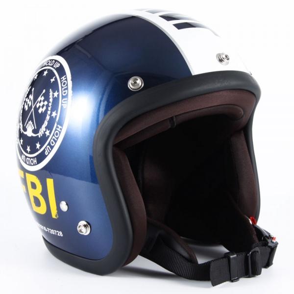 ジャムテックジャパン (72JAM) バイク用 ジェット ヘルメット JJシリーズ F.B.I. (ブラック) フリーサイズ (57~60cm未満) JJ-02B