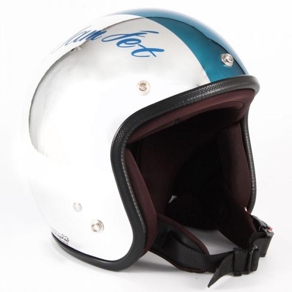 ジャムテックジャパン (72JAM) バイク用 ジェット ヘルメット JCPシリーズ CHROMES クロムズ CM/BL (ブルー) フリーサイズ (57~60cm未満) JCP-08