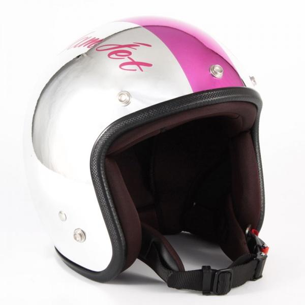 ジャムテックジャパン (72JAM) バイク用 ジェット ヘルメット JCPシリーズ CHROMES クロムズ CM/PK (ピンク) フリーサイズ (57~60cm未満) JCP-09