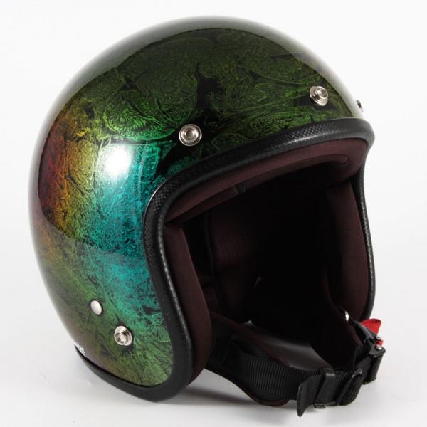 ジャムテックジャパン (72JAM) バイク用 ジェット ヘルメット JCPシリーズ RASH ラッシュ (レインボー) フリーサイズ (57~60cm未満) JCP-19