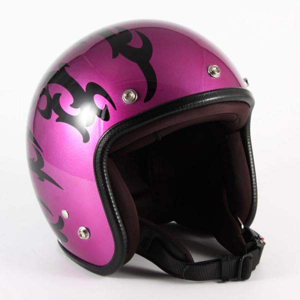 (57~60cm未満) JCP-24 (パープル) (72JAM) JCPシリーズ ヘルメット ジャムテックジャパン フリーサイズ ジェット バイク用 トライバル TRIBAL