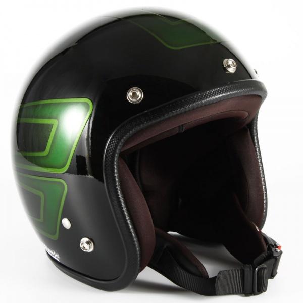 ジャムテックジャパン (72JAM) バイク用 ジェット ヘルメット JCPシリーズ SCALLOP スカラップ (グリーン) フリーサイズ (57~60cm未満) JCP-31