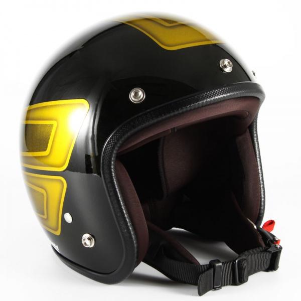 ジャムテックジャパン (72JAM) バイク用 ジェット ヘルメット JCPシリーズ SCALLOP スカラップ (イエロー) フリーサイズ (57~60cm未満) JCP-32