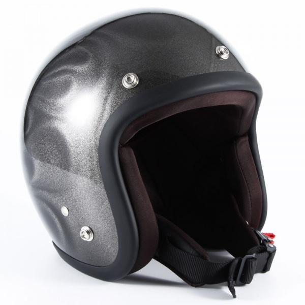 ジャムテックジャパン (72JAM) バイク用 ジェット ヘルメット JGシリーズ GHOST FLAME ゴースト フレーム (シルバー) フリーサイズ (57~60cm未満) JG-14