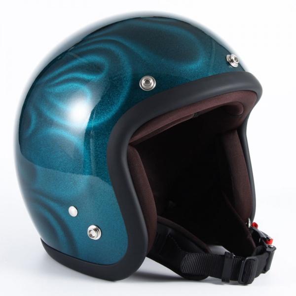 ジャムテックジャパン (72JAM) バイク用 ジェット ヘルメット JGシリーズ GHOST FLAME ゴースト フレーム (ブルー) フリーサイズ (57~60cm未満) JG-16