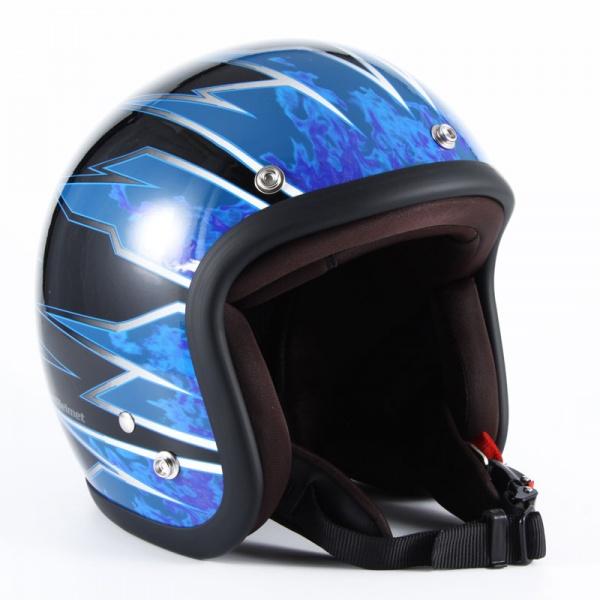 ジャムテックジャパン (72JAM) バイク用 ジェット ヘルメット JJシリーズ STING スティング (ブルー) フリーサイズ (57~60cm未満) JJ-17