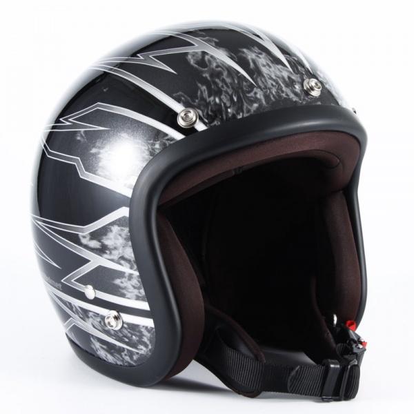 ジャムテックジャパン (72JAM) バイク用 ジェット ヘルメット JJシリーズ STING スティング (ブラック) フリーサイズ (57~60cm未満) JJ-18
