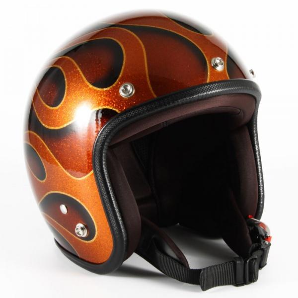 ジャムテックジャパン (72JAM) バイク用 ジェット ヘルメット JCPシリーズ FLAMES フレイムス (オレンジ) フリーサイズ (57~60cm未満) JCP-43