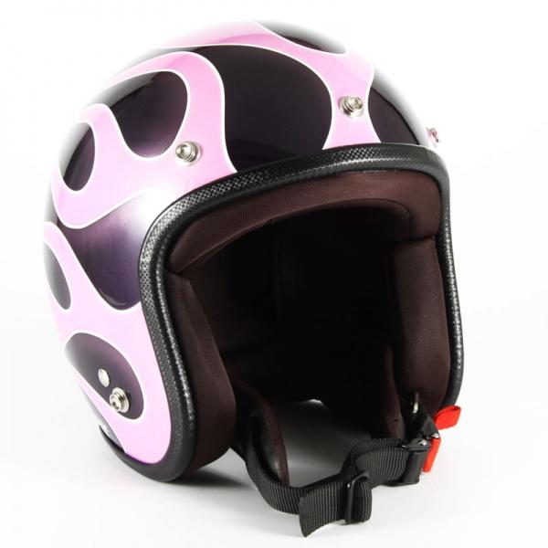 ジャムテックジャパン (72JAM) バイク用 ジェット ヘルメット JCPシリーズ FLAMES フレイムス レディース (ピンク) レディースサイズ(55~57cm未満) JCP-44