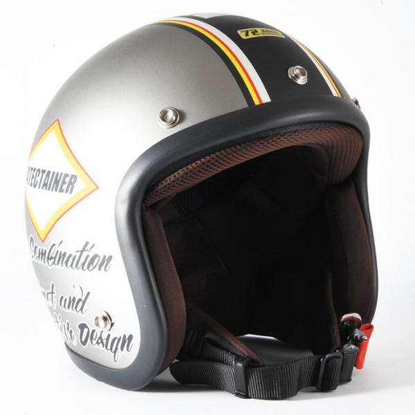 ジャムテックジャパン (72JAM) バイク用 ジェット ヘルメット JJシリーズ MARVEL マーベル (シルバーグレー) フリーサイズ (57~60cm未満) JJ-21