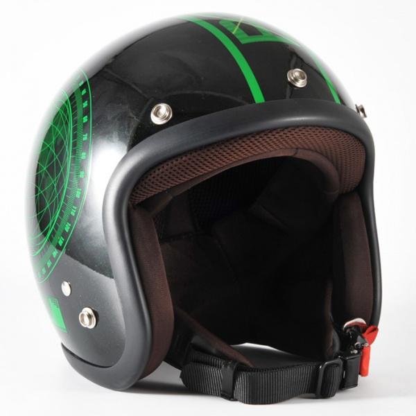 ジャムテックジャパン (72JAM) バイク用 ジェット ヘルメット JJシリーズ BEACON ビーコン (ブラック) フリーサイズ (57~60cm未満) JJ-23