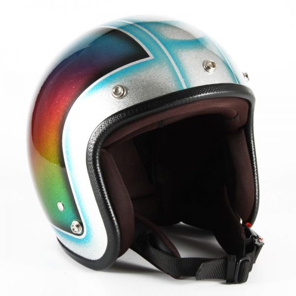 ジャムテックジャパン (72JAM) バイク用 ジェット ヘルメット JCPシリーズ Metal Snake メタル スネーク (ブルー) フリーサイズ (57~60cm未満) JCP-48