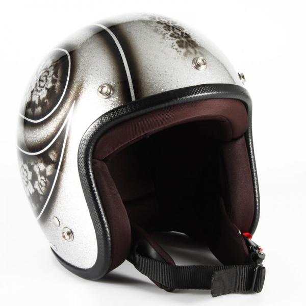 ジャムテックジャパン (72JAM) バイク用 ジェット ヘルメット JCPシリーズ ROSA ローザ レディース (シルバー) レディースサイズ(55~57cm未満) JCP-52