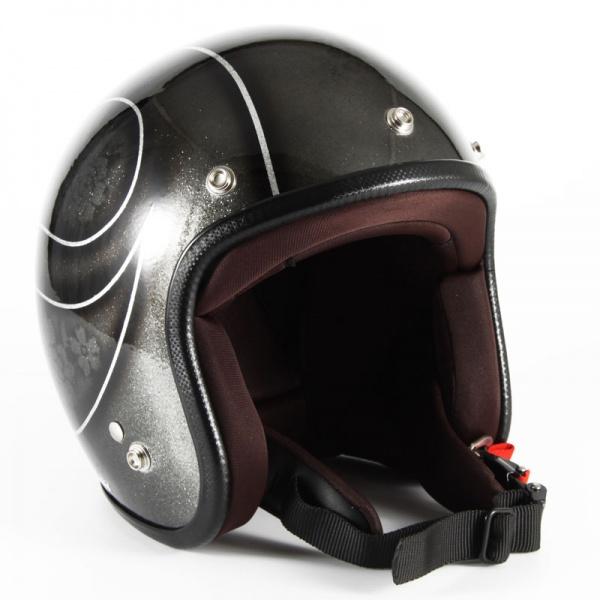 ジャムテックジャパン (72JAM) バイク用 ジェット ヘルメット JCPシリーズ ROSA ローザ レディース (ブラック) レディースサイズ(55~57cm未満) JCP-54
