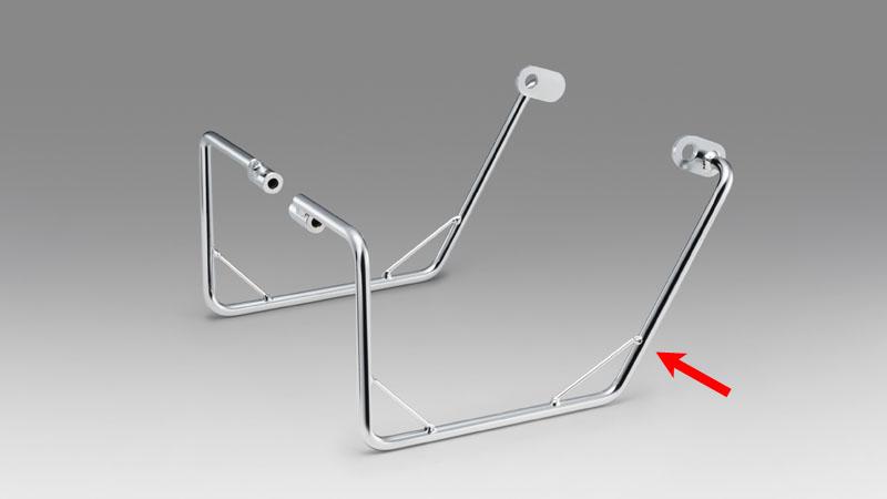 KIJIMA(キジマ) バイク用 バッグサポート メッキ カブ50/110/クロス 18y- ライト 210-4931