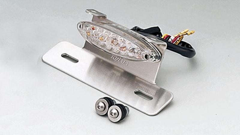 KIJIMA(キジマ) バイク用 テールランプ スリムキャッツアイ LED クリアー ハンガータイプ 218-3114
