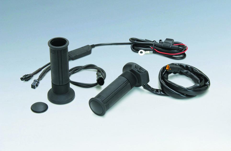 KIJIMA(キジマ) バイク用 ハンドル グリップヒーター GH07 標準ハンドル対応 115mm スイッチ内蔵 304-8197