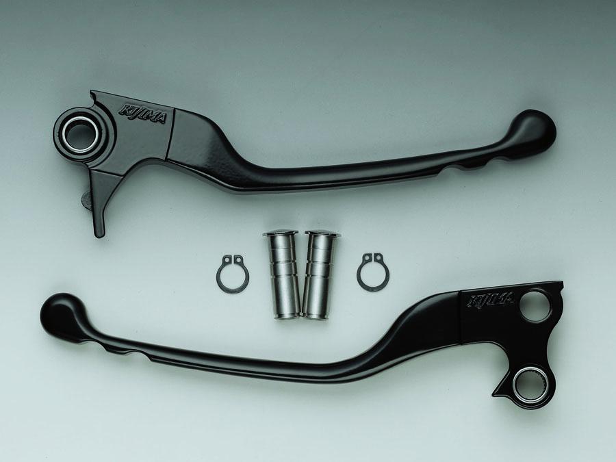 KIJIMA(キジマ) バイク用 スリムレバー アルミダイカスト ブラック 96-16yBT ベアリング付 HD-04348