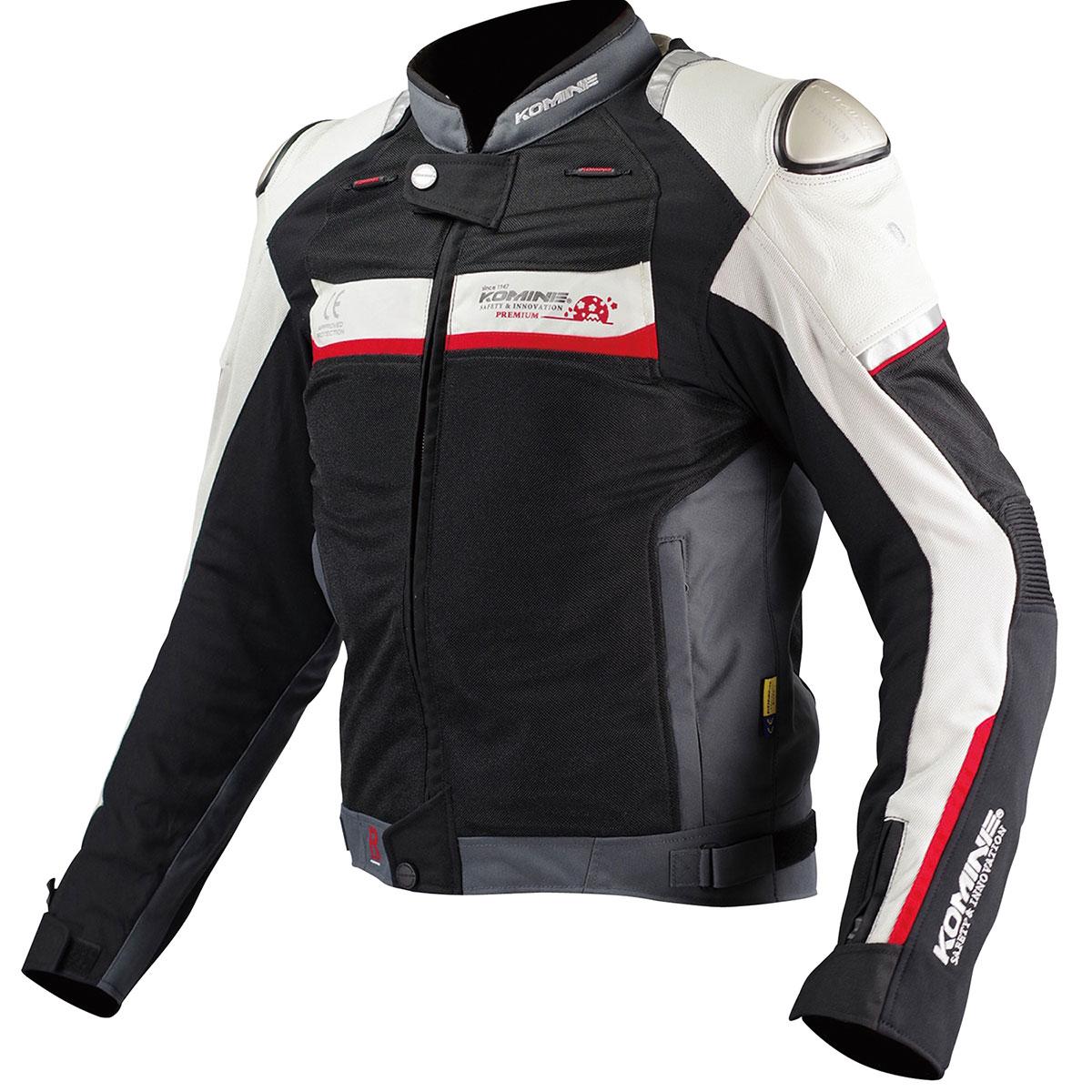 コミネ (Komine) バイク用 ジャケット Jacket JJ-001 チタニウムメッシュジャケット ブラック シルバー 黒 銀 XLサイズ 00-001/BK/SL/XL