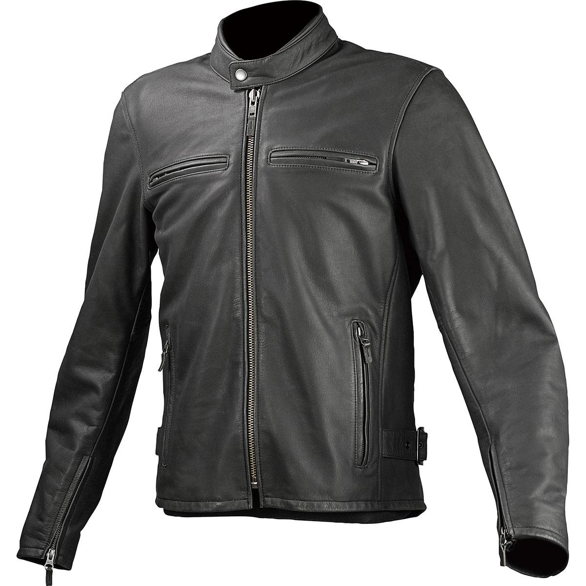 コミネ (Komine) バイク用 ジャケット Jacket LJ-534 シングルライダースレザージャケット ブラック 黒 XLサイズ 02-534/BK/XL