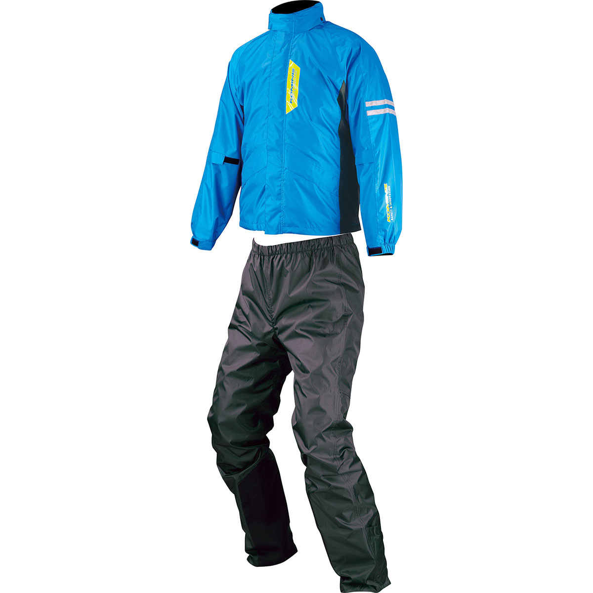 コミネ (Komine) バイク用 レインギア Rain gear RK-539 ブレスターレインウェア フィアート シアン ブルー 青 XLサイズ 03-539/C.BL/XL