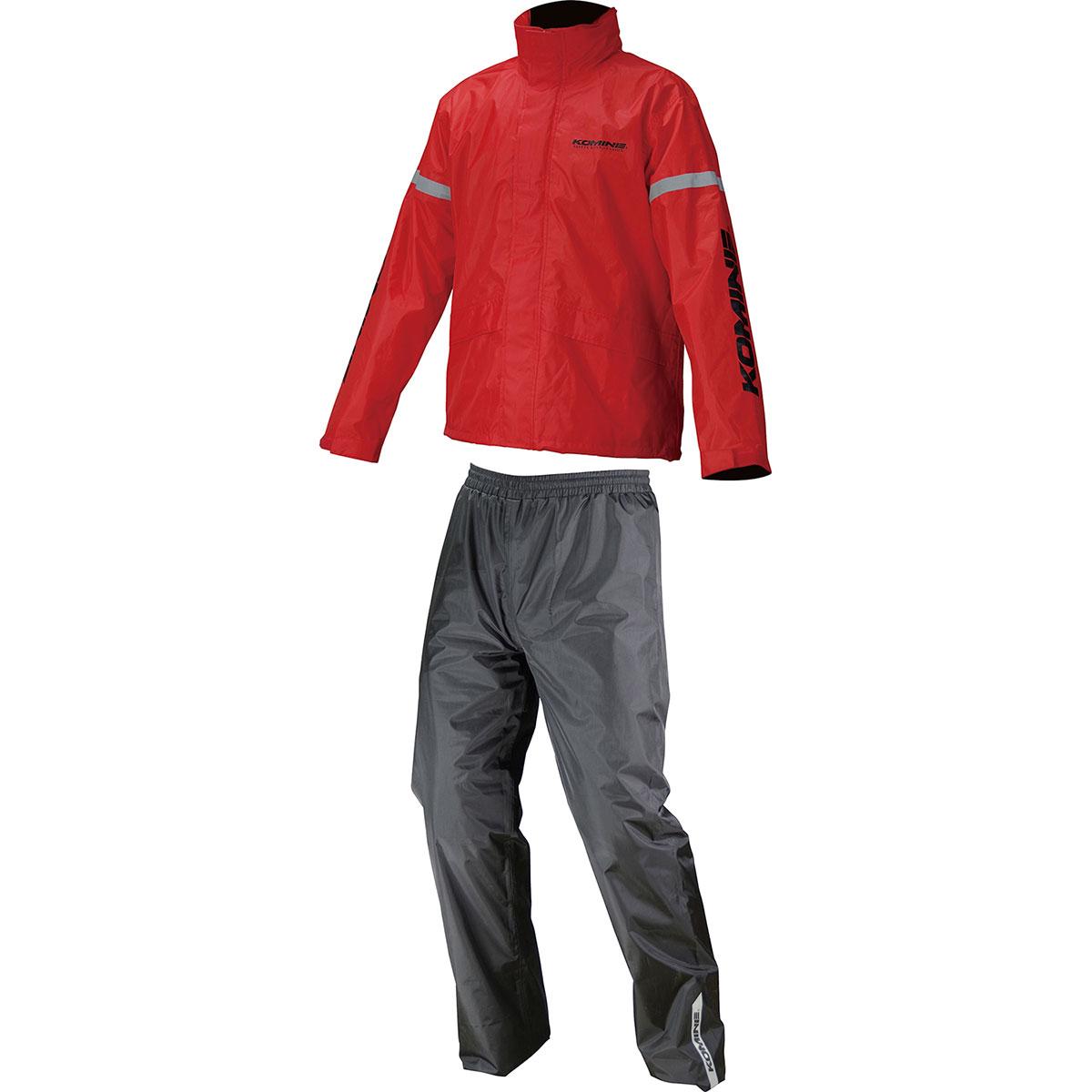 コミネ 贈与 Komine バイク用 レインギア Rain gear 予約 RK-543 赤 STDレインウェア RD レッド XL 03-543 XLサイズ
