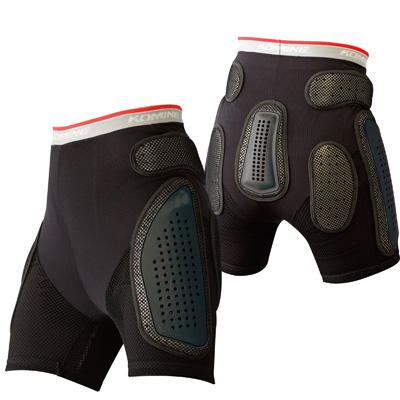 コミネ (Komine) バイク用 プロテクションインナーウェア Protection inner wear SK-611 プロテクトメッシュアンダーパンツショート ブラック 黒 Lサイズ 04-611/BK/L