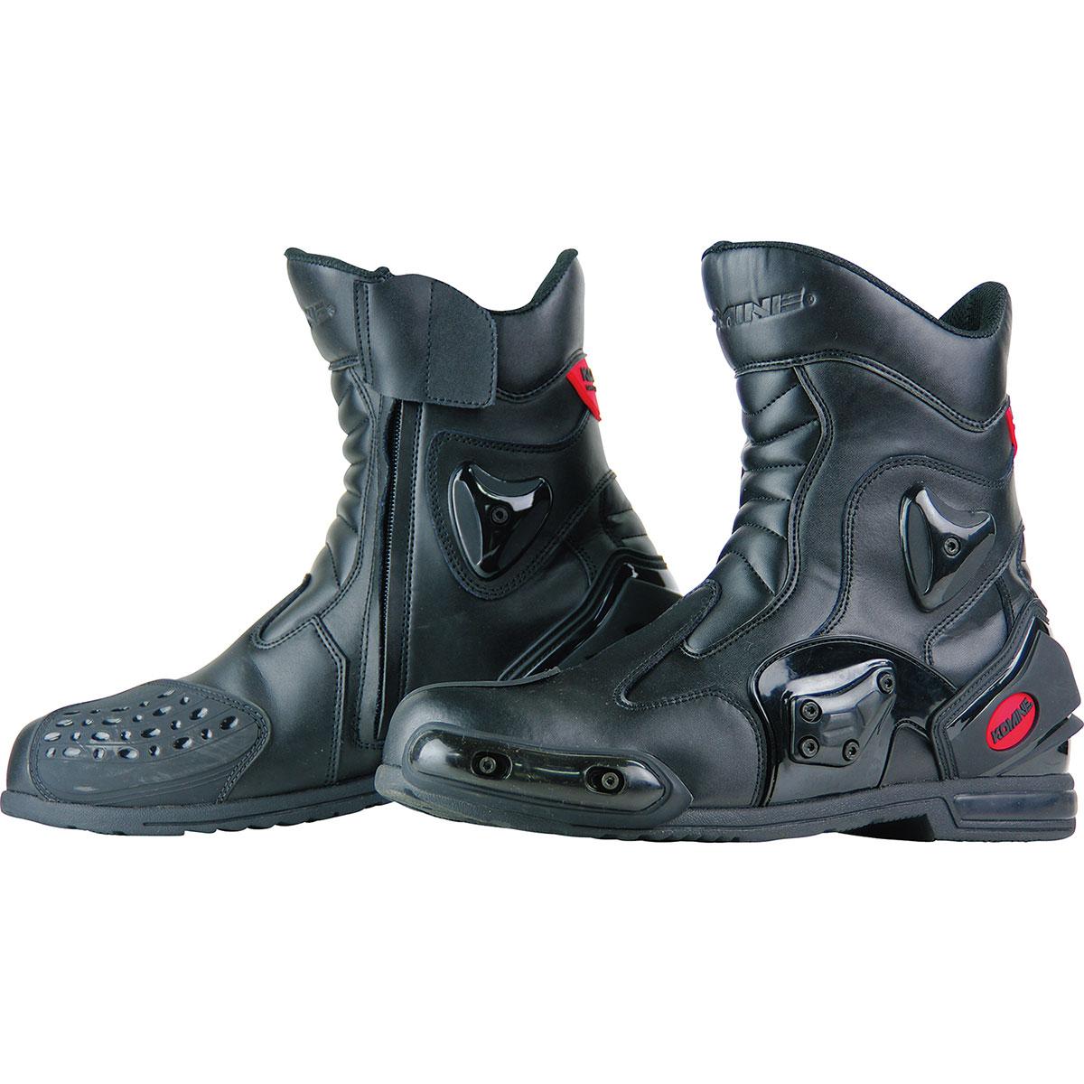 スーパーセール限定 クーポン発行 コミネ Komine バイク用 フットウェア シューズ ブーツ 年末年始大決算 footwear ブラック BK-067 大注目 Shoes Boots 26.5 05-067 26.5cm プロテクトスポーツショートライディングブーツ 黒