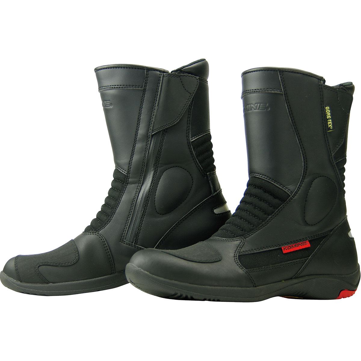 コミネ (Komine) バイク用 フットウェア シューズ ブーツ footwear Shoes Boots BK-070 GORE-TEX?ショートブーツ-グランデ ブラック 黒 25.0cm 05-070/24.5
