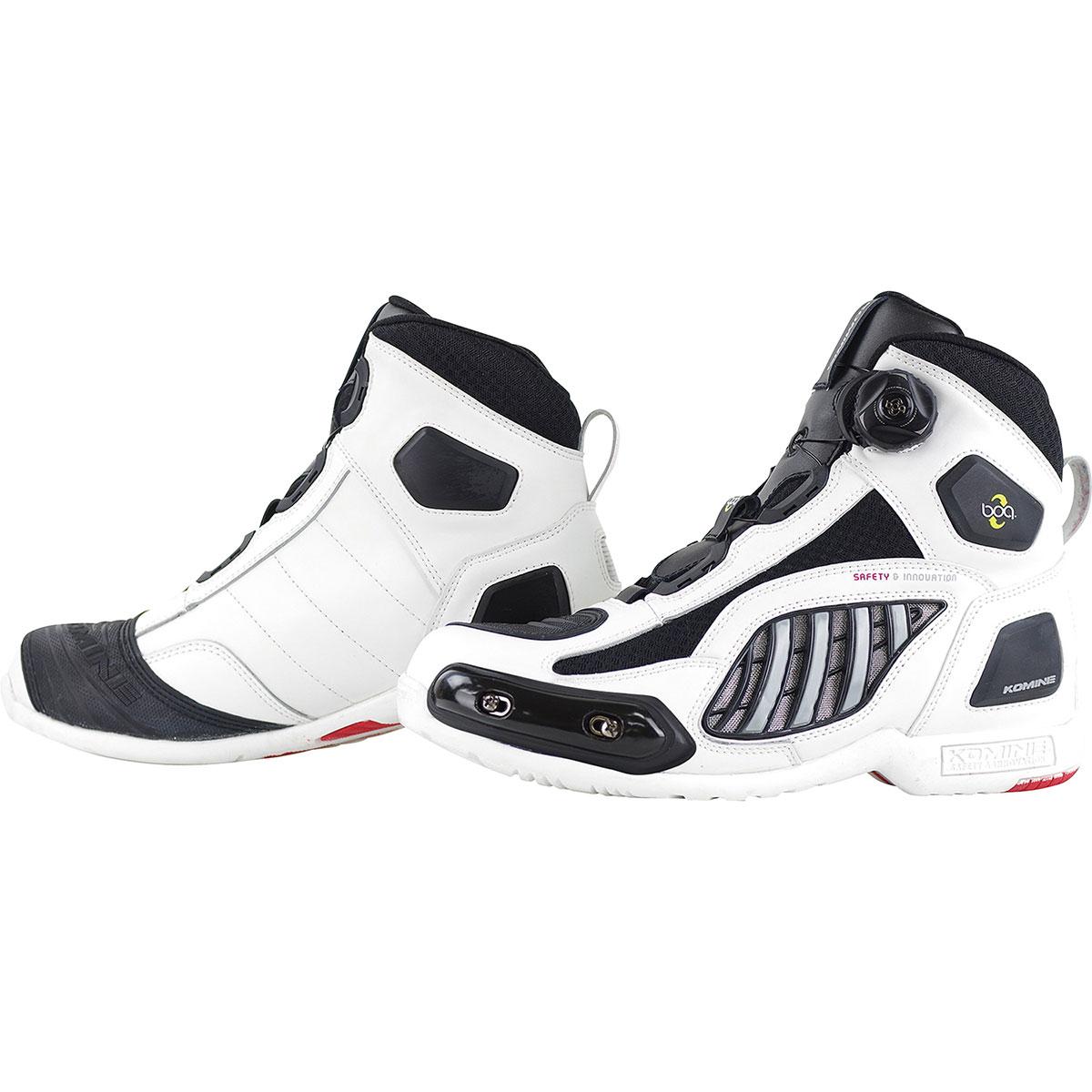 コミネ (Komine) バイク用 フットウェア シューズ ブーツ footwear Shoes Boots BK-078 エアスループロテクト Boa シューズスポート ホワイト 白 26.5cm 05-078/WH/26.5