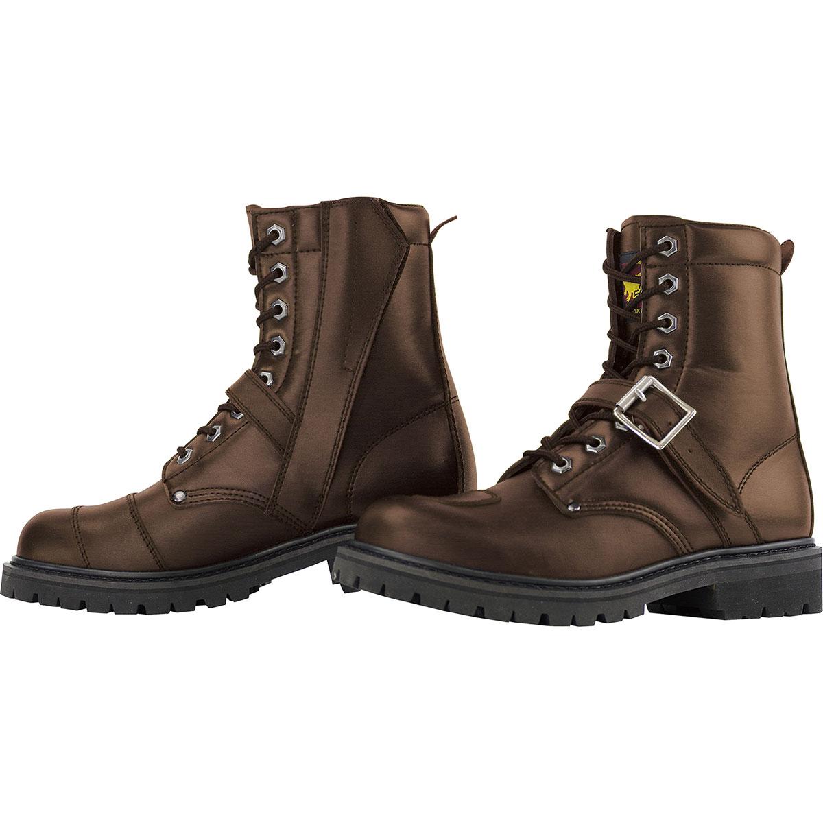 コミネ (Komine) バイク用 フットウェア シューズ ブーツ footwear Shoes Boots SB-81 ミドルブーツ ブラウン 茶 24.5cm 05-081/BR/24.5