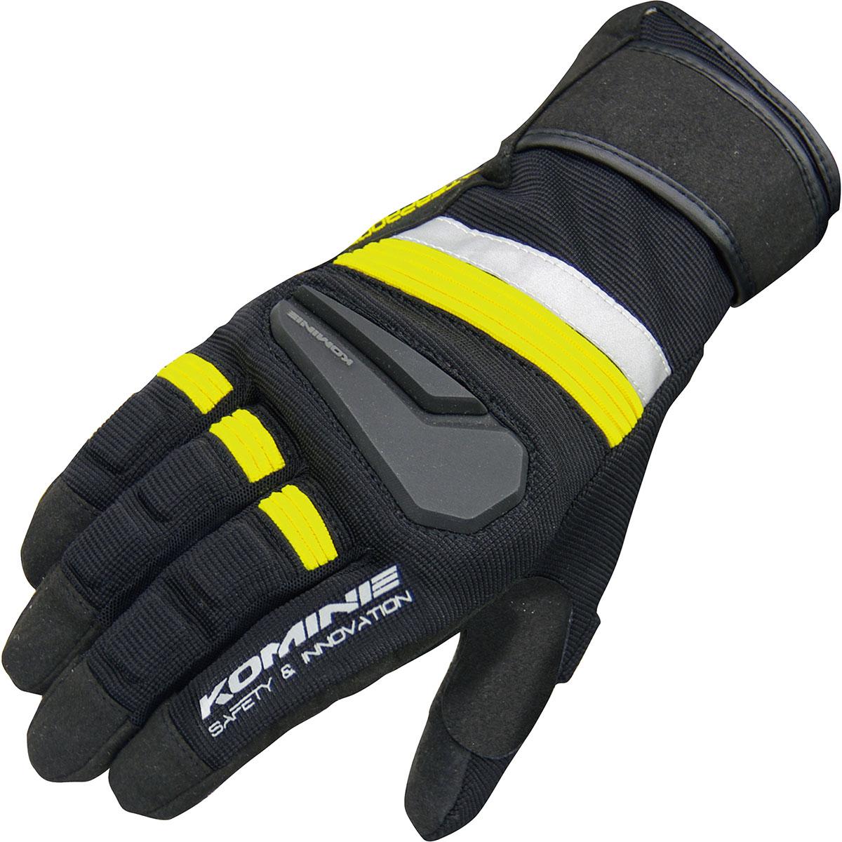コミネ (Komine) バイク用 グローブ Gloves GK-145 スーパーフィットレイングローブ-アクロポリス ブラック イエロー 黒 黄 2XLサイズ 06-145/BK/YL/2XL