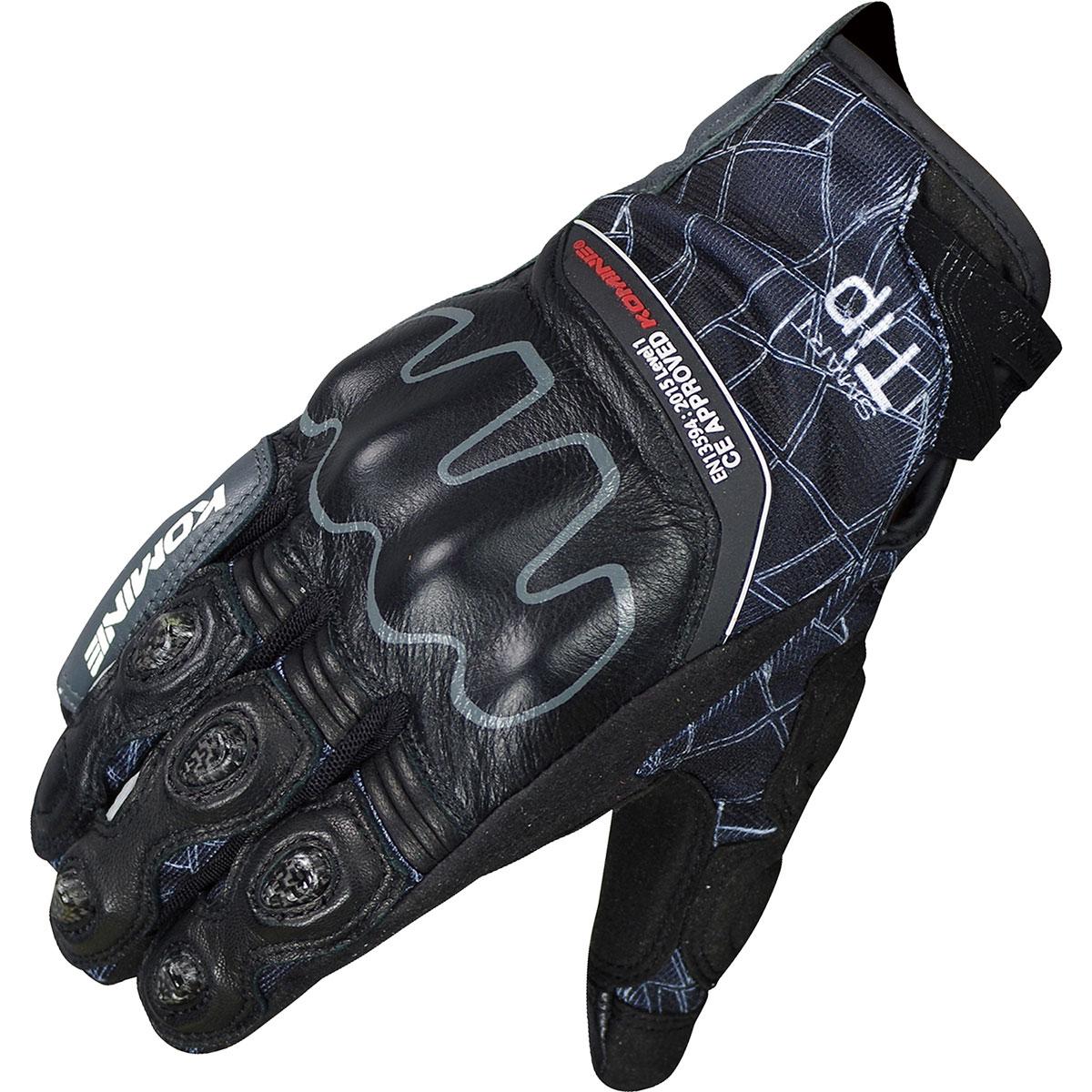コミネ (Komine) バイク用 グローブ Gloves GK-190 CE ハイプロテクトメッシュグローブ-クロウド ブラック 黒 XLサイズ 06-190/BK/XL