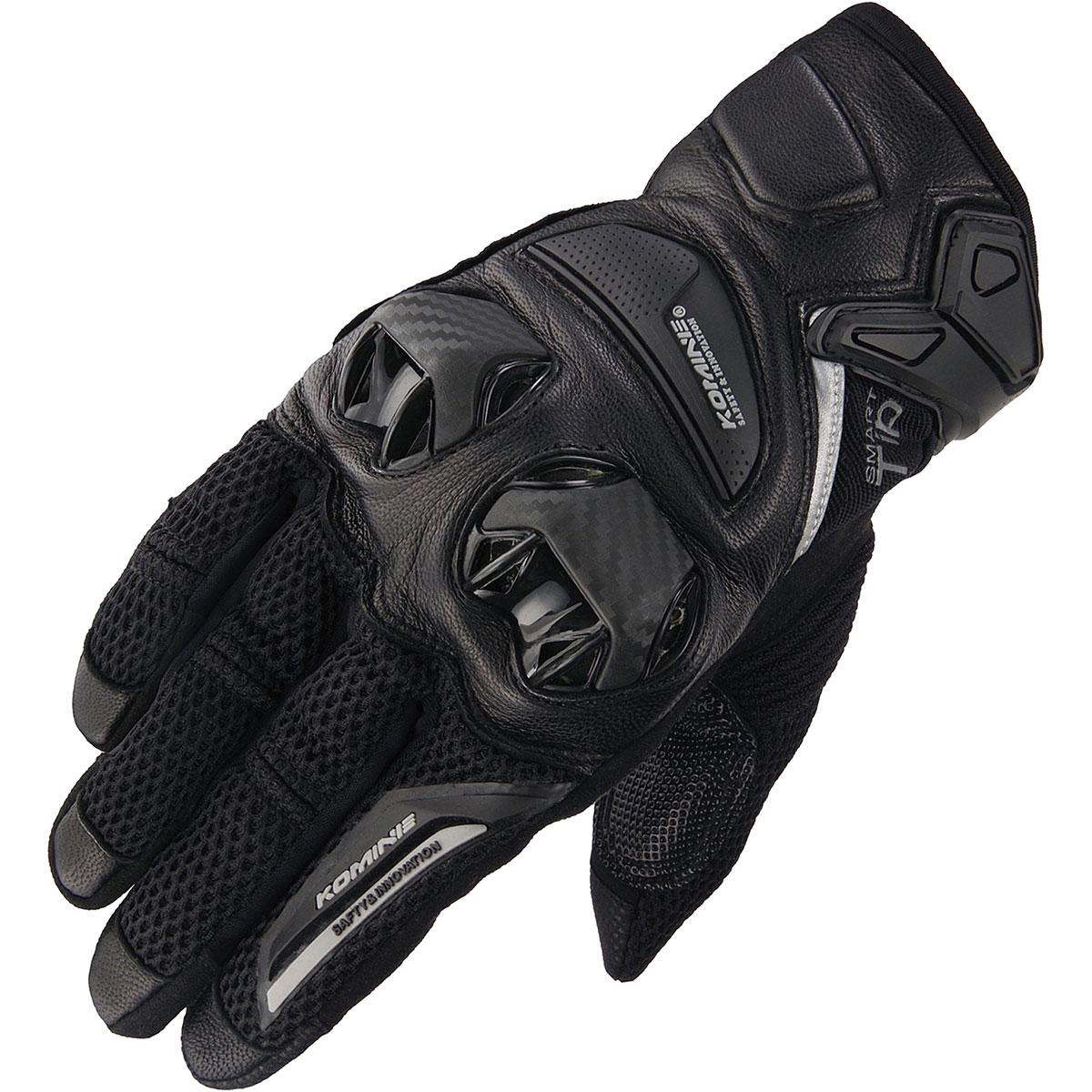 コミネ (Komine) バイク用 グローブ Gloves GK-234 プロテクトレザーメッシュグローブ ブラック 黒 Mサイズ 06-234/BK/M