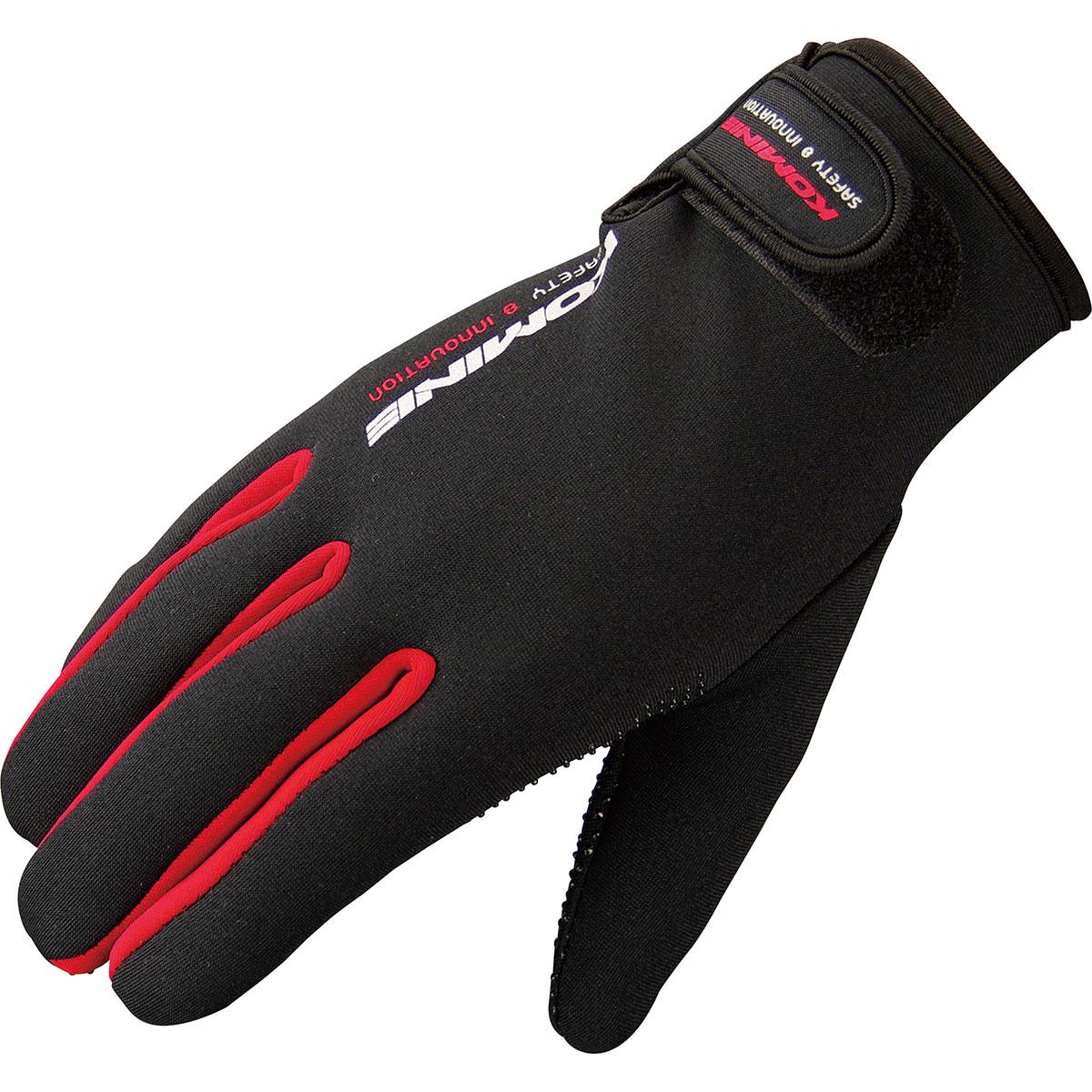 コミネ (Komine) バイク用 グローブ Gloves GK-753 ネオプレーングローブ レッド 赤 Lサイズ 06-753/RD/L
