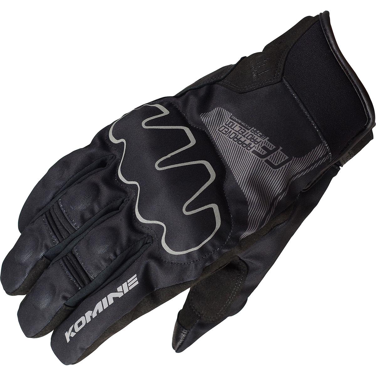 コミネ (Komine) バイク用 グローブ Gloves GK-825 CEプロテクトショートウインターグローブ ブラック 黒 2XLサイズ 06-825/BK/2XL