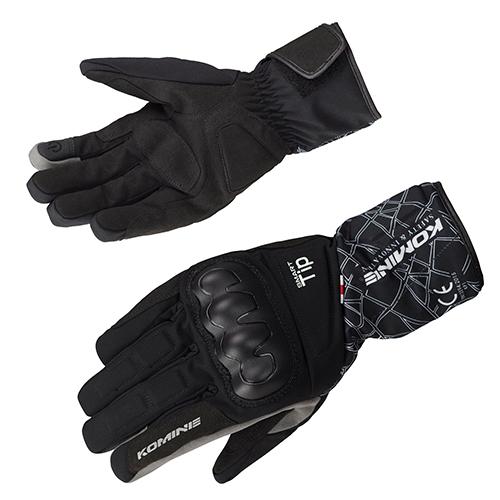 コミネ (Komine) バイク用 グローブ Gloves GK-827 CEプロテクトウインターグローブ ブラック 黒 Sサイズ 06-827/BK/S