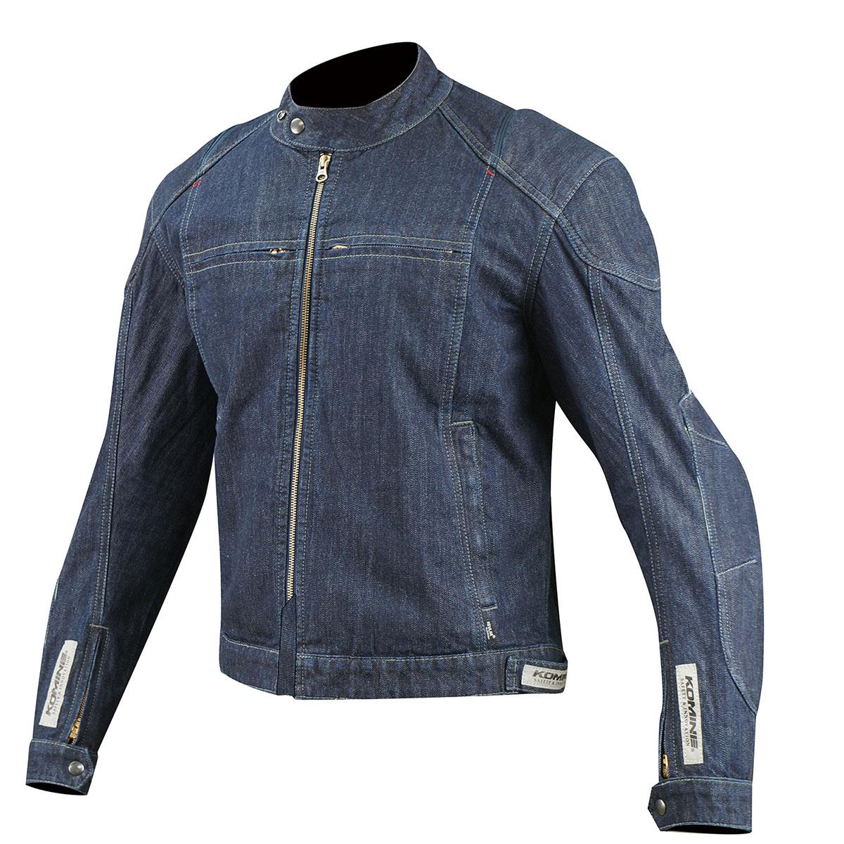 コミネ (Komine) バイク用 ジャケット Jacket JK-077 KV デニムジャケット インディゴ ブルー Lサイズ 07-077/BL/L