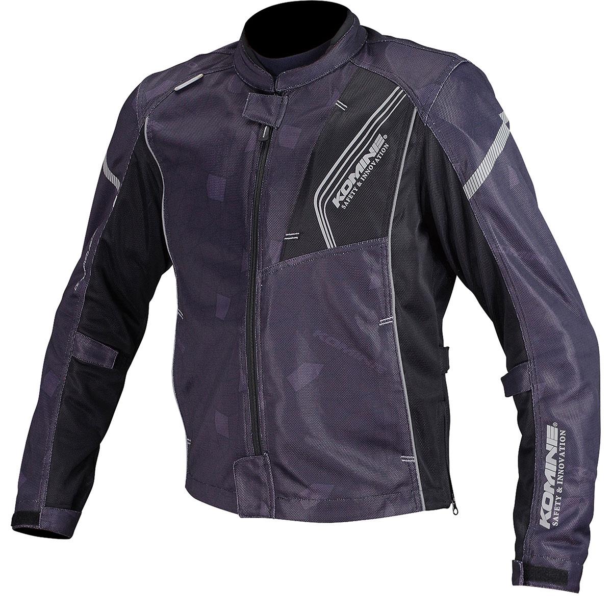コミネ (Komine) バイク用 ジャケット Jacket JK-128 プロテクトフルメッシュジャケット ブラック 黒 2XLサイズ 07-128/BK/2XL