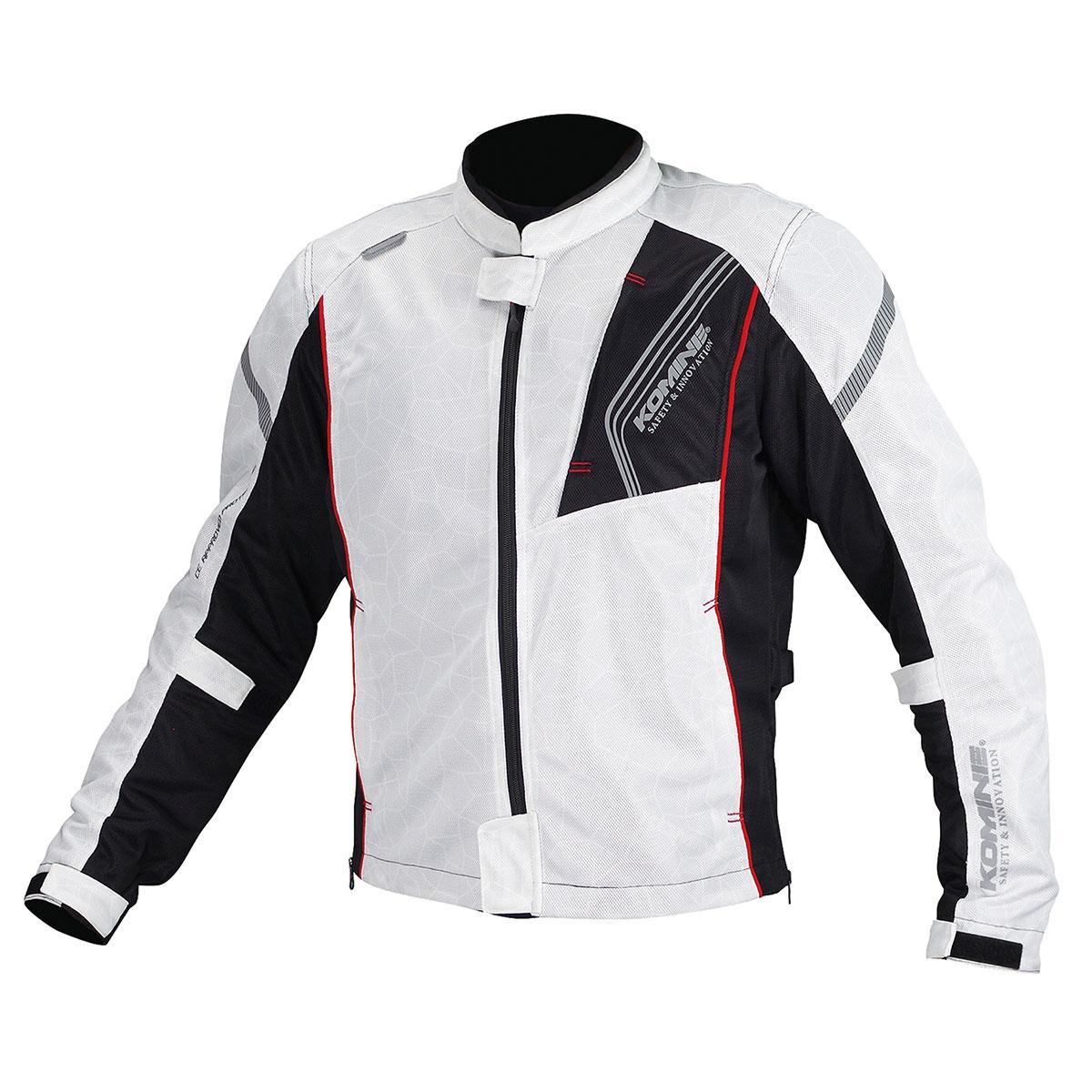 コミネ (Komine) バイク用 ジャケット Jacket JK-128 プロテクトフルメッシュジャケット シルバー ブラック 銀 黒 Mサイズ 07-128/SL/BK/M