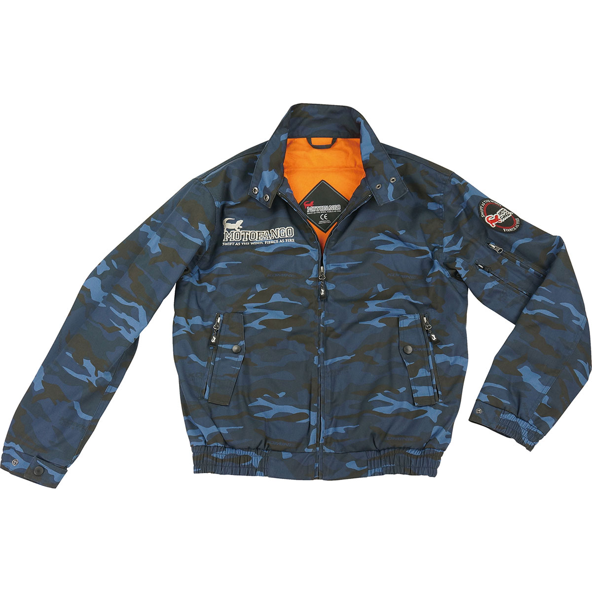 コミネ (Komine) バイク用 ジャケット Jacket JK-591 プロテクトスイングトップジャケット ブルー カモ 青 迷彩 3XLサイズ 07-591BLCA/3XL