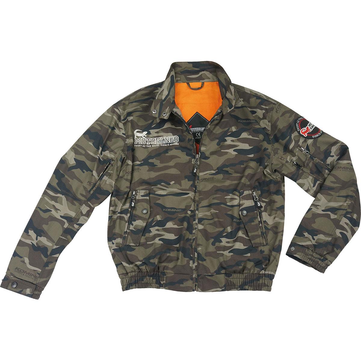 コミネ (Komine) バイク用 ジャケット Jacket JK-591 プロテクトスイングトップジャケット カモフラージュ 迷彩 3XLサイズ 07-591CA/3XL